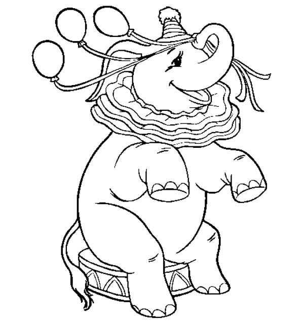 Dumbo the Elephant, : Dumbo the Elephant Mother Show Coloring Pages