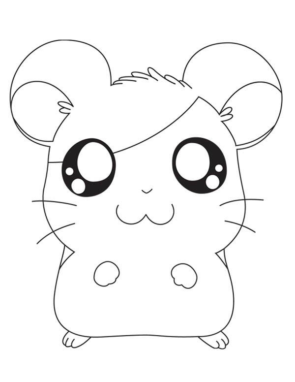 Hamtaro, : Famous Hamtaro Coloring Pages