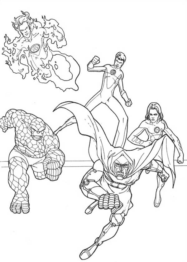 Fantastic Four, : Fantastic Four Chracters Coloring Pages
