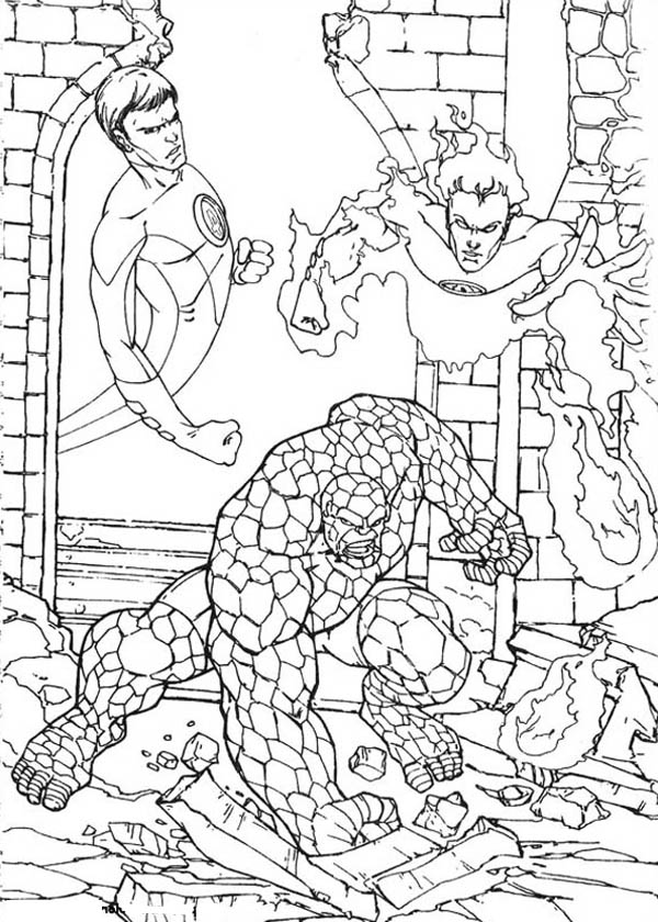 Fantastic Four, : Fantastic Four Image Coloring Pages