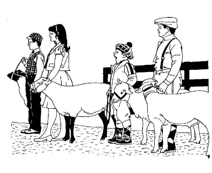 Farm Life, : Farm Life Coloring Pages Farmer Holding Their Livestock
