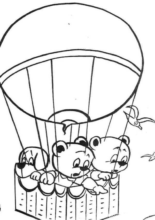Hot Air Balloon, : Feeling Afraid of High on Hot Air Balloon Coloring Pages