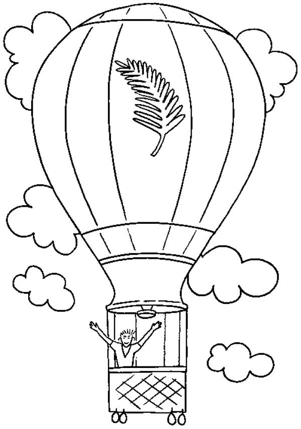 Hot Air Balloon, : Feeling Free When I on Hot Air Balloon Coloring Pages