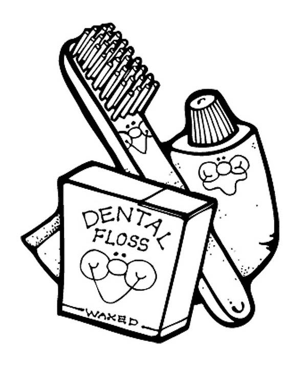 Dentist, : For Your Dental Health Dentist Coloring Pages