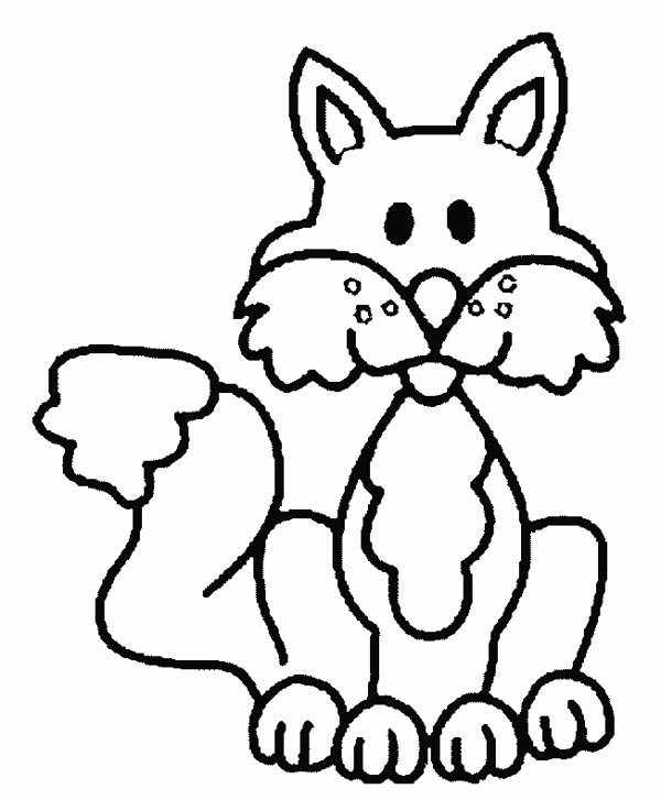 Fox, : Fox Cartoon Coloring Pages