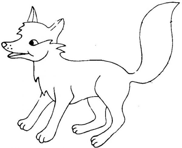 Fox, : Fox Feeling Excited Coloring Pages