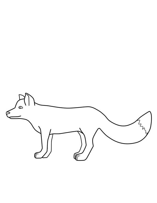 Fox, : Fox Outline Coloring Pages