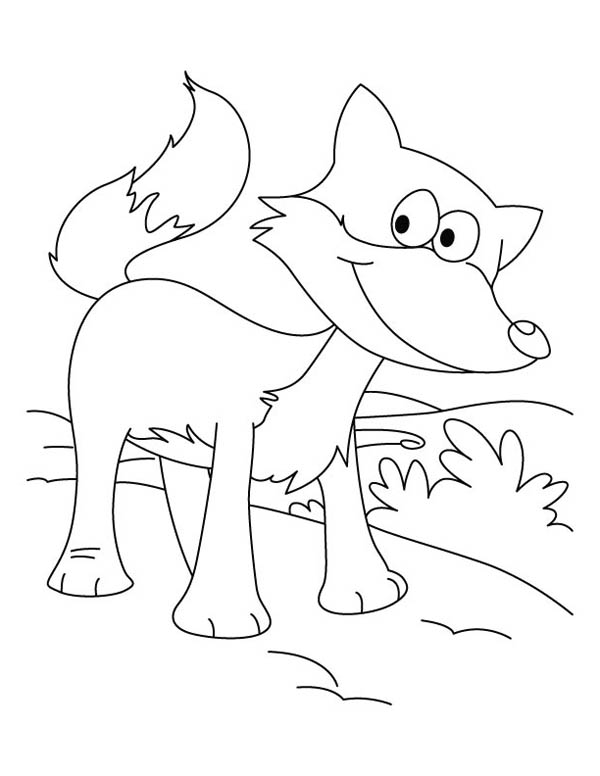 Fox, : Fox Sweet Smile Coloring Pages