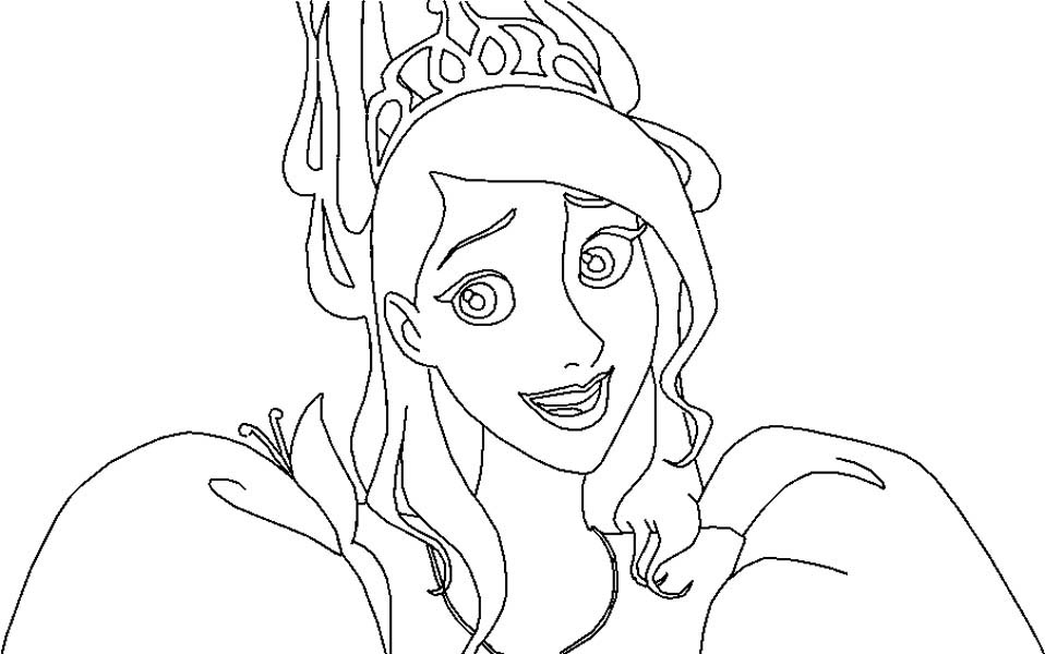 Enchanted, : Giselle is Confuse in Enchanted Coloring Pages