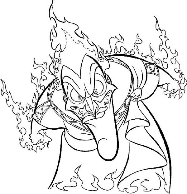 Hercules, : Hades is Mad to Hercules Coloring Pages