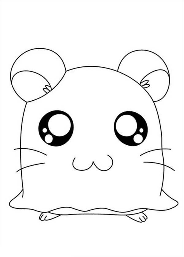 Hamtaro, : Hamtaro Coloring Pages for Kids