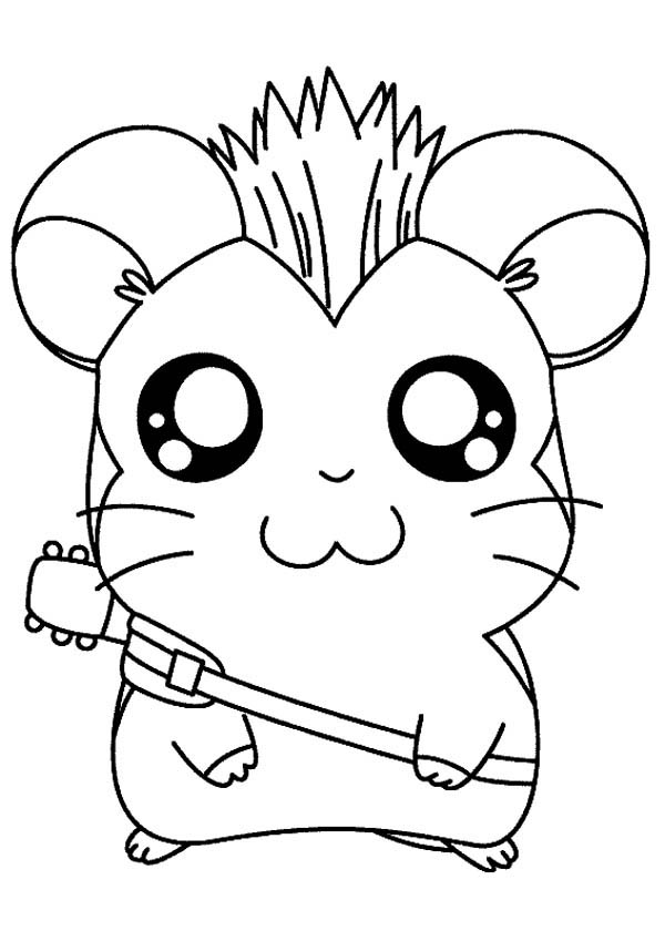 Hamtaro, : Hamtaro Spikey Hair Coloring Pages