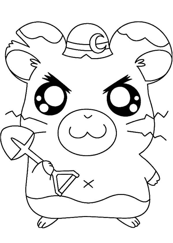 Hamtaro, : Hamtaro the Construction Worker Coloring Pages
