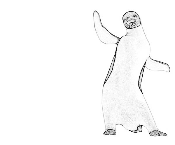 Happy Feet, : Happy Feet Character Gloria Coloring Pages