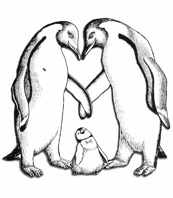 Happy Feet, : Happy Feet Parents Love Him so Much Coloring Pages