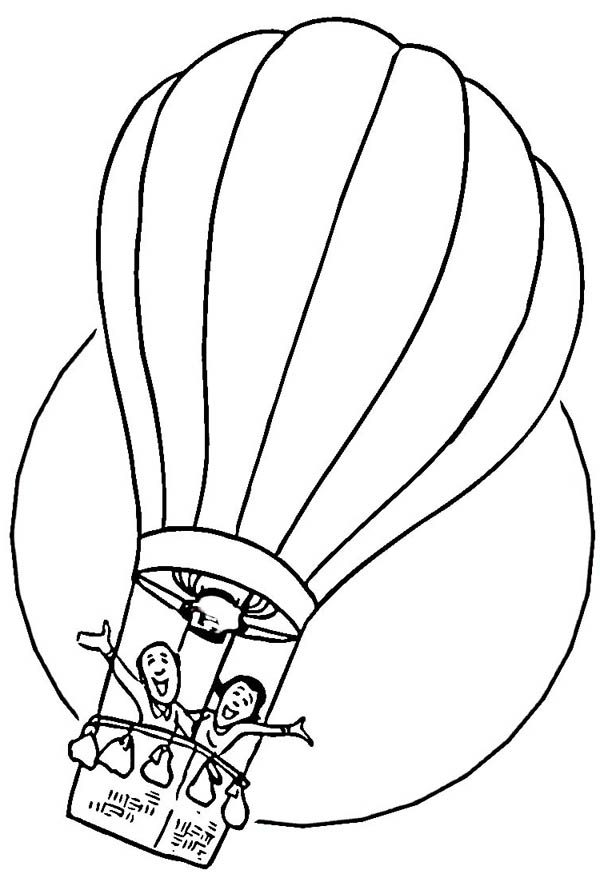 Hot Air Balloon, : Having Fun on Hot Air Balloon Coloring Pages