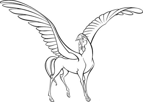 Hercules, : Hercules Bestfriend Pegasus Coloring Pages