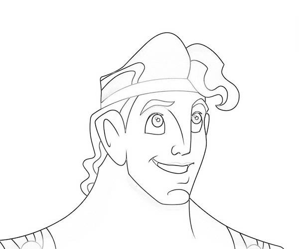 Hercules, : Hercules Smiling Coloring Pages