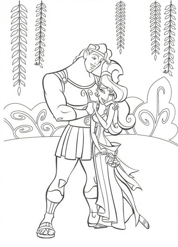 Hercules Meg Coloring Pages
