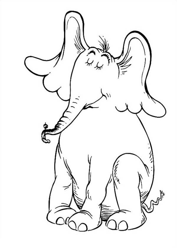 Horton, : Horton Hears a Who is Proud of Top of Clover Coloring Pages