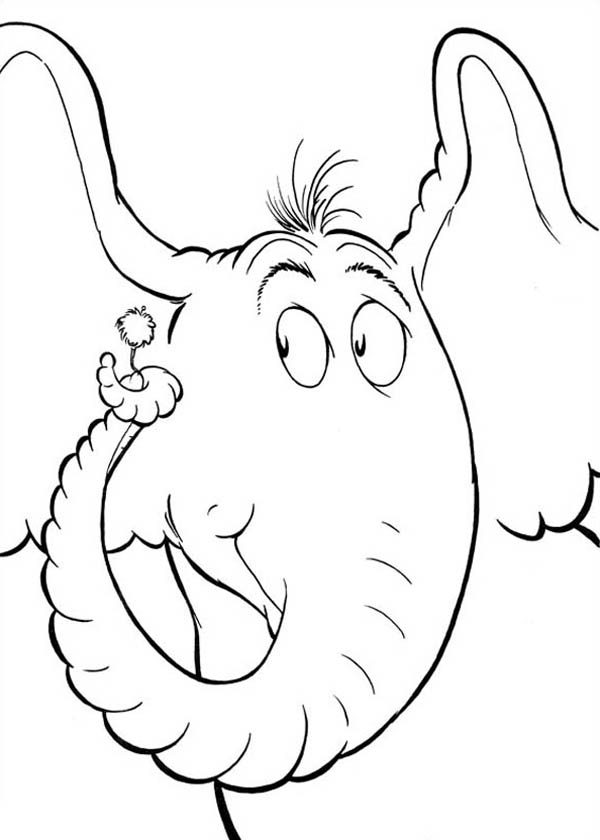 Horton, : Horton Interesting to One Flower Coloring Pages