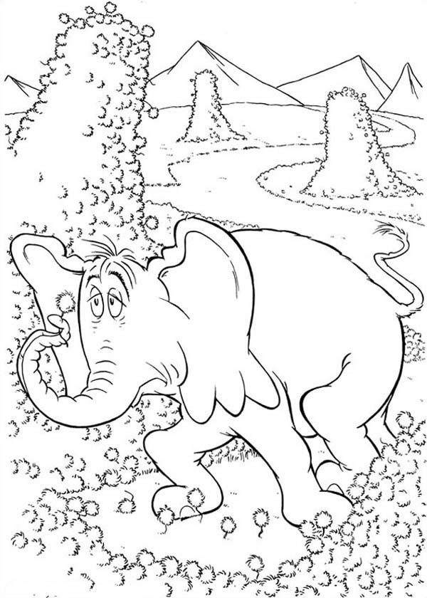 Horton, : Horton Look Tired Coloring Pages