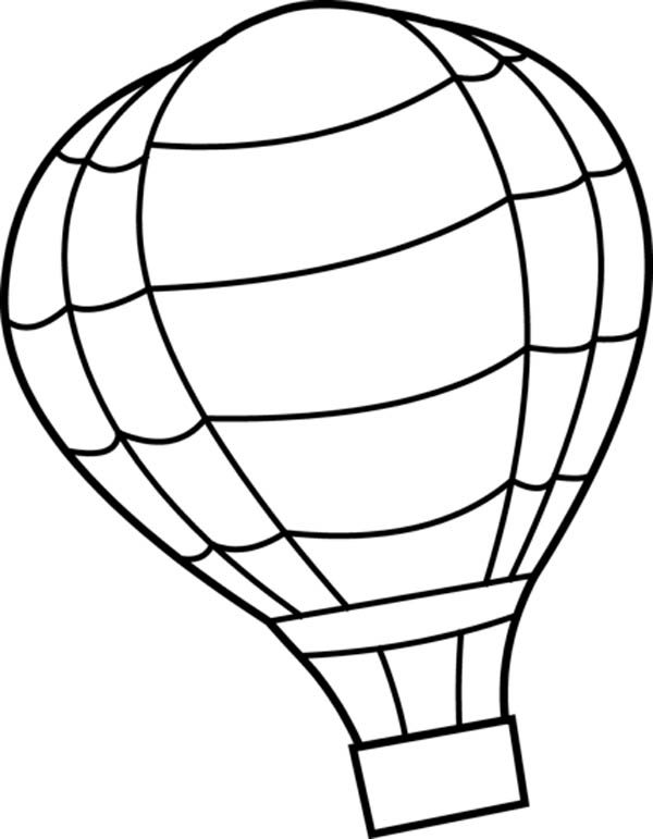Hot Air Balloon, : Hot Air Balloon Coloring Pages for Kids