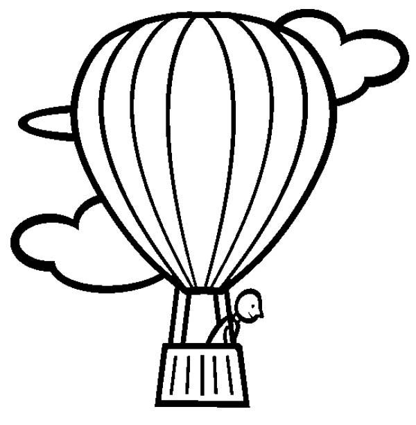 Hot Air Balloon, : Hot Air Balloon Looking Down Coloring Pages