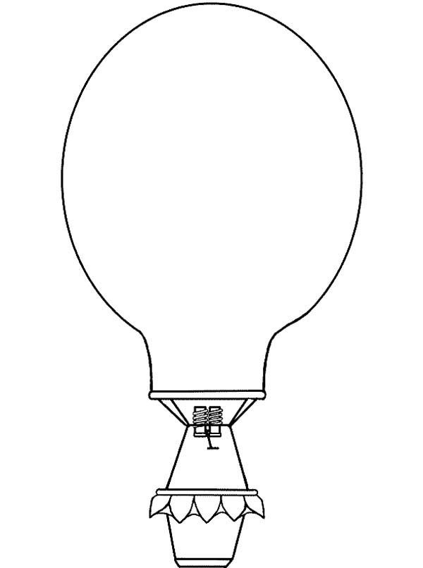 Hot Air Balloon, : Hot Air Balloon Outline Coloring Pages