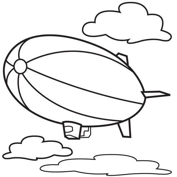 Hot Air Balloon, : Hot Air Balloon Zeppelin Coloring Pages 2
