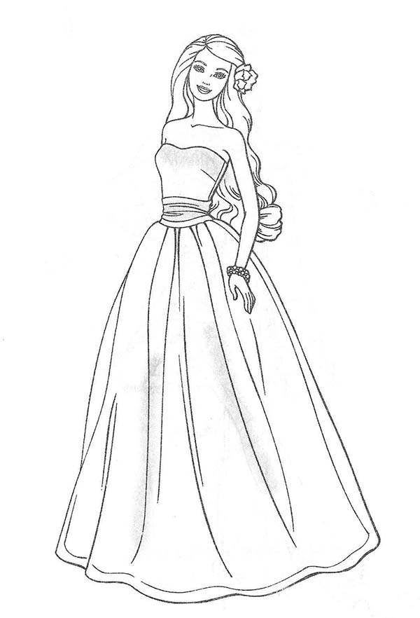 Barbie, : How to Draw Barbie Coloring Pages