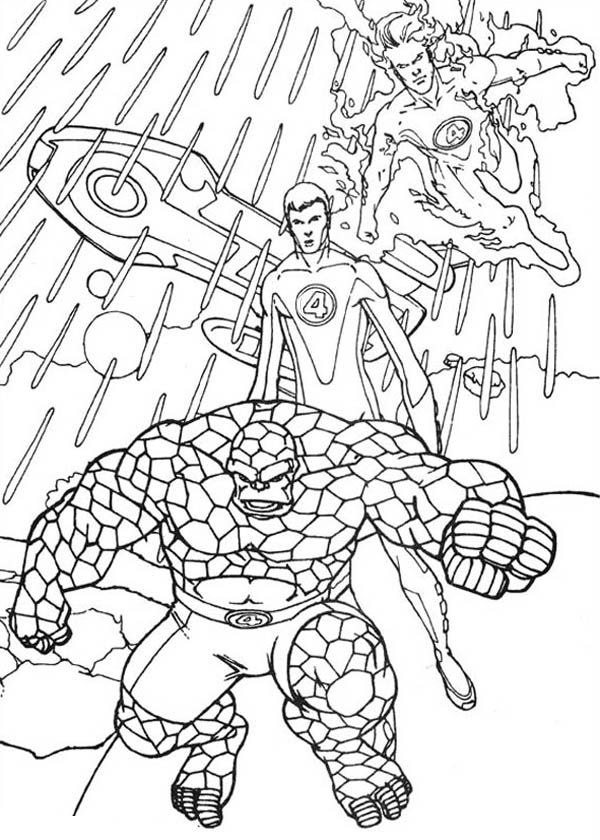 Fantastic Four, : How to Draw Fantastic Four Coloring Pages