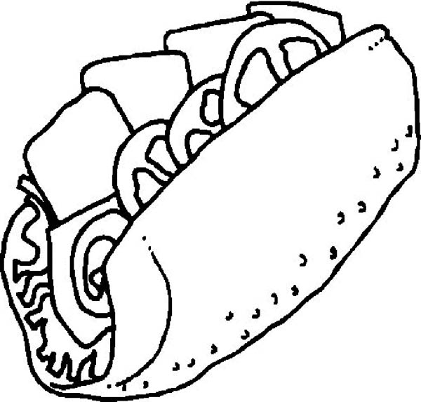 Foods, : How to Draw Fast Food Coloring Pages
