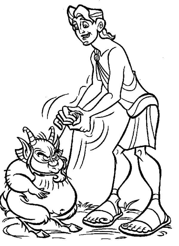 Hercules, : How to Draw Hercules and Philoctetes Coloring Pages