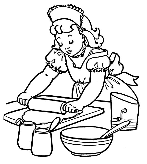 Bakery, : How to Make Cake at Bakery Coloring Pages
