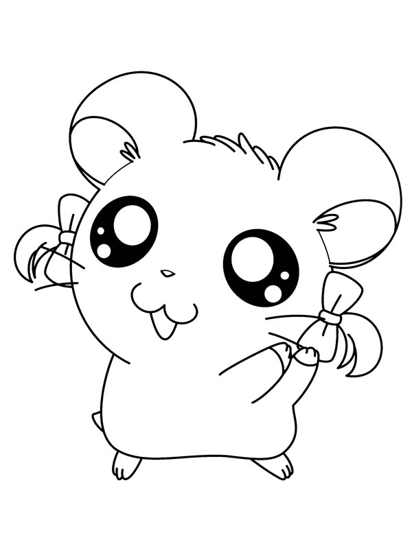 Hamtaro, : I Love Hamtaro Coloring Pages