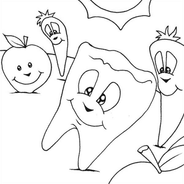 Dentist, : Keep Your Teeth Healthy with Dentist Coloring Pages