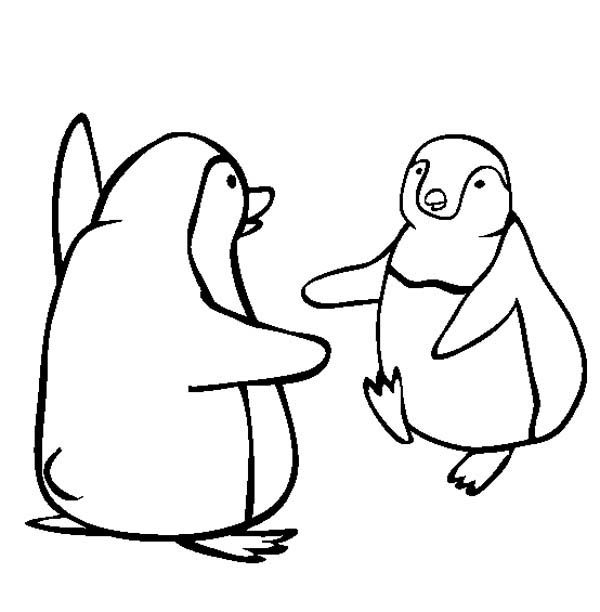 Happy Feet, : Kids Drawing Happy Feet Coloring Pages