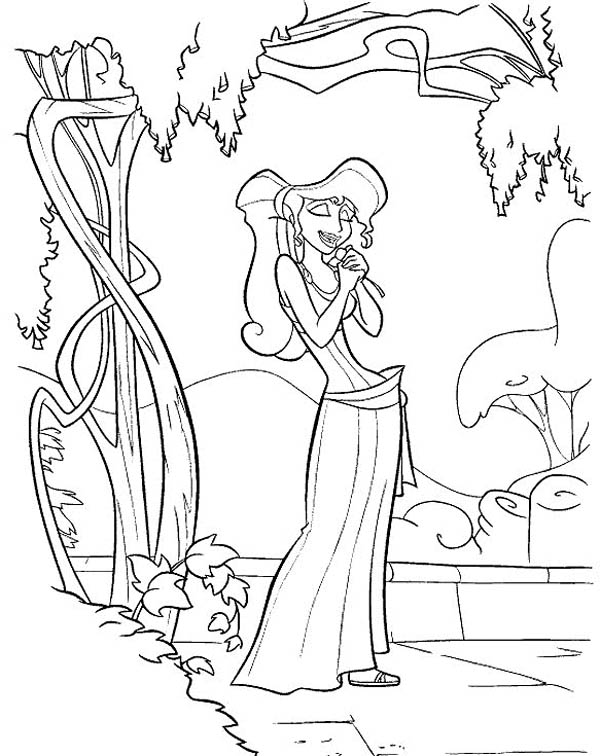 Hercules, : Megara Daydreaming about Hercules Coloring Pages
