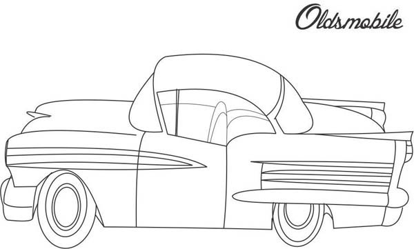 Classic Cars, : Oldsmobile Classic Cars Coloring Pages