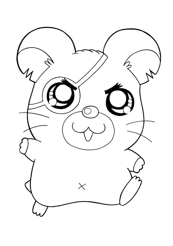Hamtaro, : One Eyed Pirate Hamtaro Coloring Pages