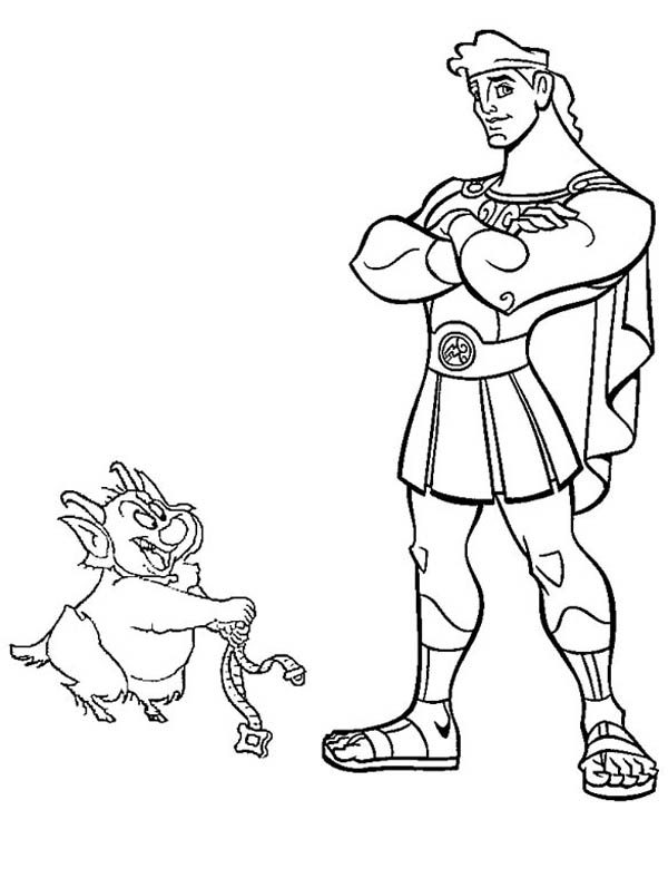 Hercules, : Philoctetes Want to Tie Hercules Down Coloring Pages