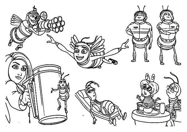 Bee Movie, : Picture of Bee Movie Scene Coloring Pages