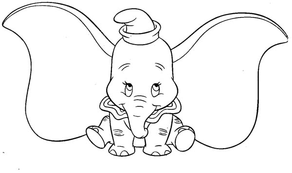 Dumbo the Elephant, : Picture of Dumbo the Elephant Coloring Pages