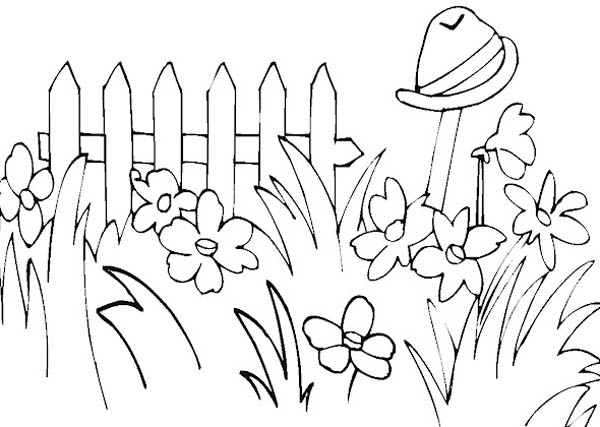 Gardening, : Picture of Flower Gardening Coloring Pages