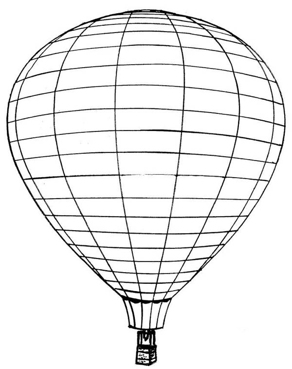 Hot Air Balloon, : Picture of Hot Air Balloon Coloring Pages