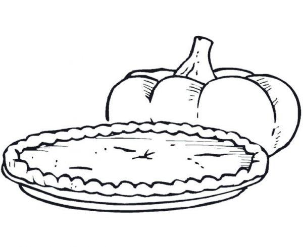 Foods, : Pumpkin Pie Food Coloring Pages