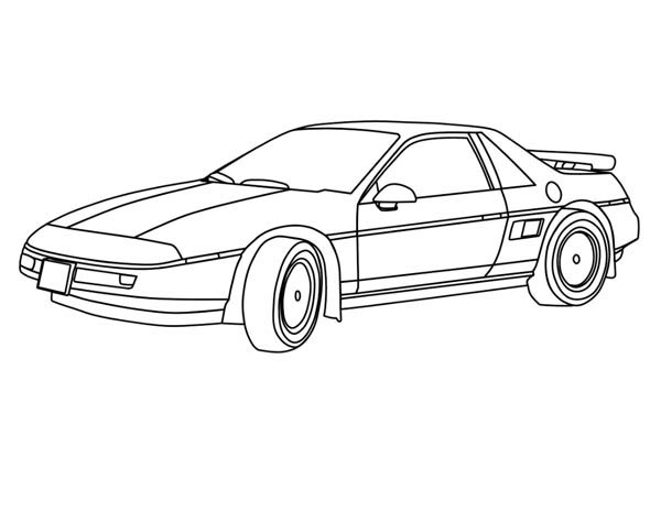 Classic Cars, : Sedan Classic Cars Coloring Pages