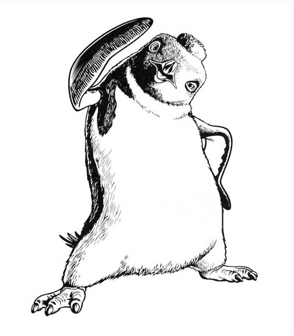 Happy Feet, : Sketch of Happy Feet Character Coloring Pages