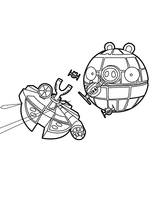 Angry Bird Star Wars, : The Death Star Angry Bird Star Wars Coloring Pages 2